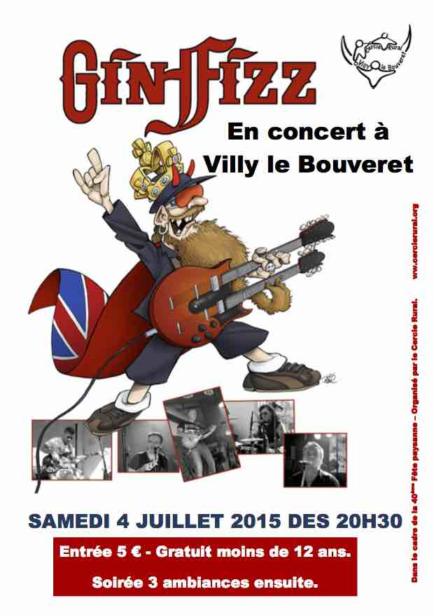 Affiche concert GinffizzDegradee